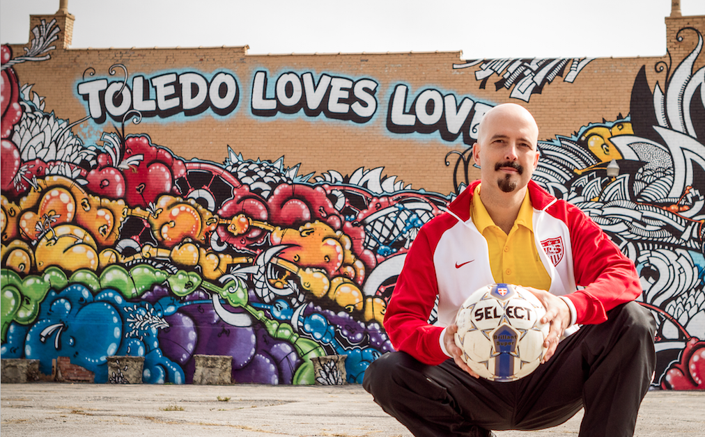 Yours truly, in front of the Toledo Loves Love mural on Adams St. downtown.